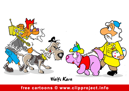 Dogs cartoon picture free - Free animals cartoons
