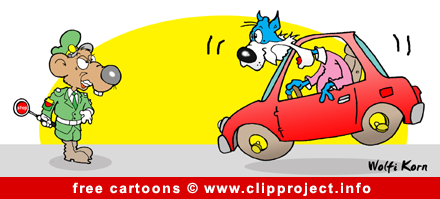 Road police cartoon picture