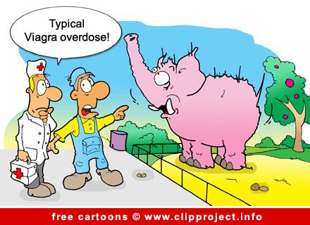 Zoo Cartoon - Viagra Overdose
