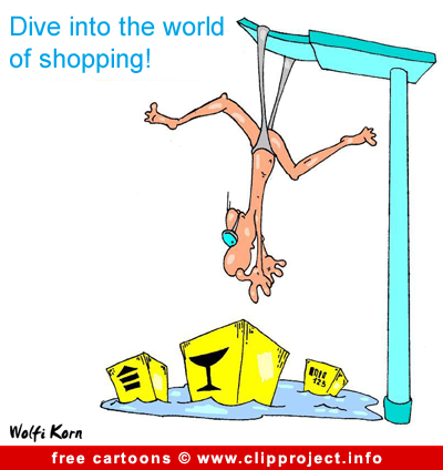 Free Ad Cartoon Shopping World
