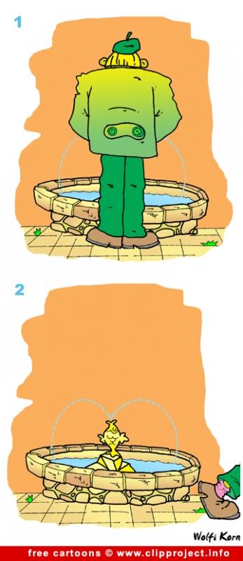 Fountain comic strip for free