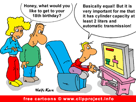 Birthday gift cartoon free