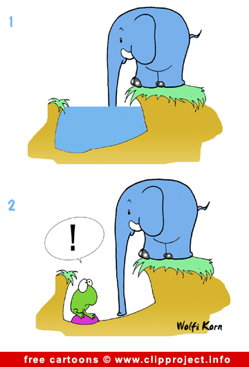 Elephant comic strip gratis