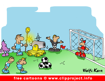 Football cartoon free - free kick