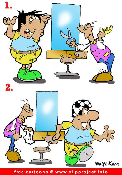Hair dress cartoon - football cartoons free