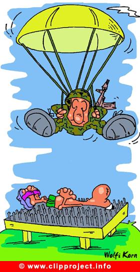 Parachutist Cartoon free download