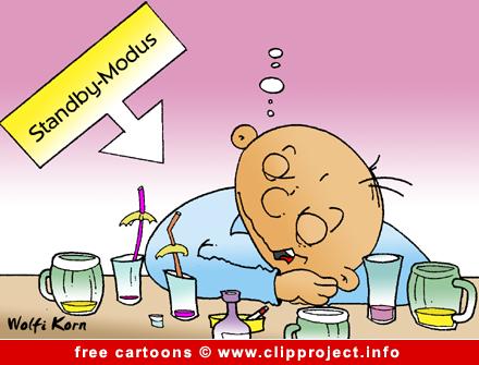 Free Party Cartoon - Drank Man