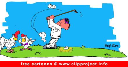 Golf Cartoon free