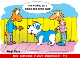 Police dog cartoon - Free animals cartoons