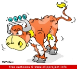Bull cartoon free
