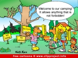 Camping cartoon free