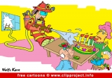 Firefighter and Birthday Cake cartoon free