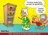 Grandma and DVDs cartoon free