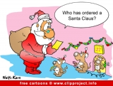 Santa Claus cartoon picture for free