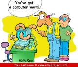 Computer worm cartoon free - Anti virus cartoons