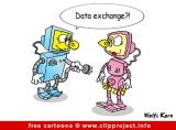 Robots cartoon image for free - Computer and IT cartoons
