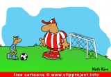 Free soccer cartoon image - goal keeper