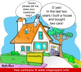 Free Medicine Cartoon - Alternative practitioner
