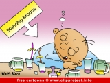 Free Party Cartoon - Drank Man