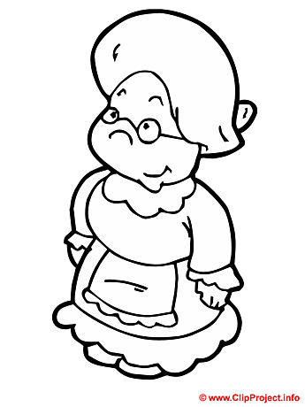 Granny coloring sheet - Free painting book