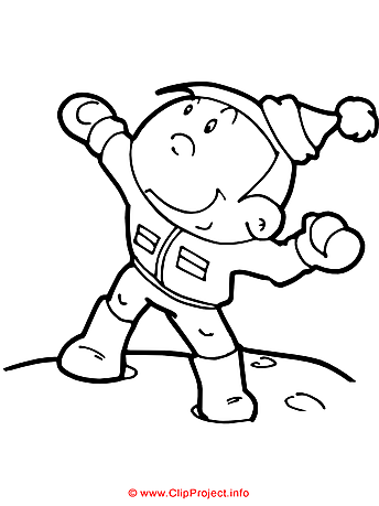 Winter coloring sheet - Free painting book