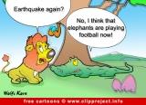 Lion and crocodile cartoon fir free