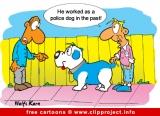 Police dog cartoon - Free animals cartoons