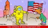 Astronaut on the Moon Cartoon free