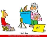 Passport cartoon free