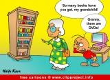 Grandma and DVDs cartoon free