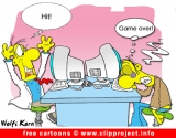 Gamers cartoon for free