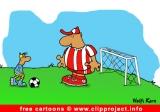 Free soccer cartoon image - goal keeper