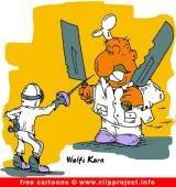 Fencing Cartoon - Free Sport Cartoons