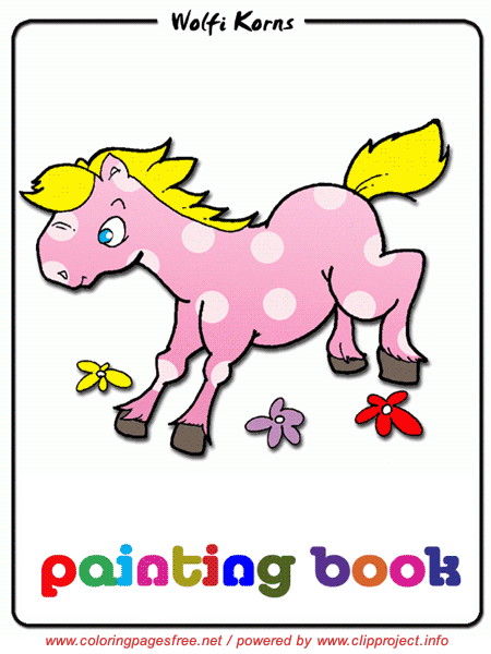 Horse, Horses, Free coloring pages for children, Images, Image, Download Online free