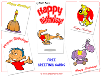 Birthday free greeting cards clipart images