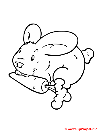 Bunny coloring sheet - Free painting book