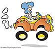 Woman driving car funny image clip art